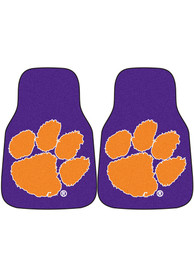 Sports Licensing Solutions Clemson Tigers 2-Piece Carpet Car Mat - Purple