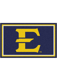 East Tennesse State Buccaneers 4x6 Plush Interior Rug