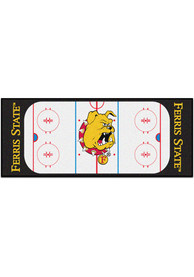 Ferris State Bulldogs 30x72 Hockey Rink Runner Interior Rug