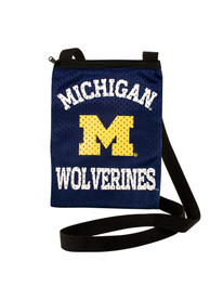 Michigan Wolverines Womens Gameday Pouch Purse - Navy Blue