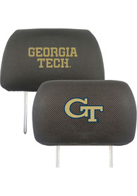 Sports Licensing Solutions GA Tech Yellow Jackets 10x13 Auto Head Rest Cover - Black