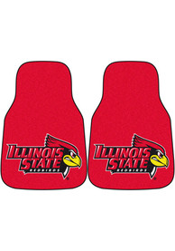 Sports Licensing Solutions Illinois State Redbirds 2-Piece Carpet Car Mat - Red