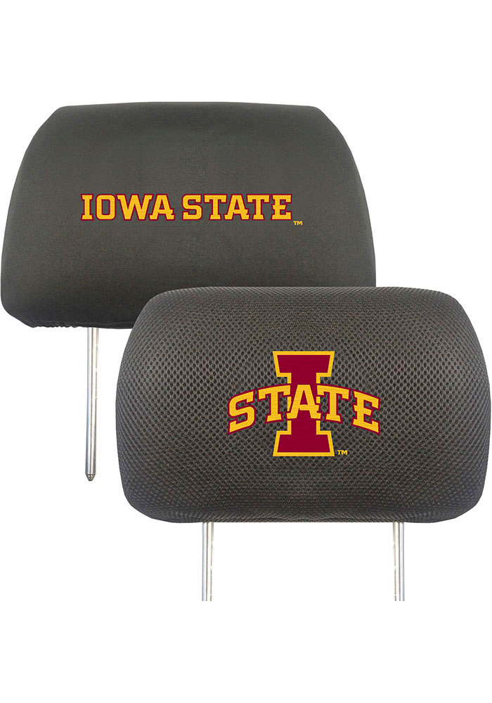 Sports Licensing Solutions Iowa State Cyclones 10x13 Auto Head Rest Cover - Black - Image 1