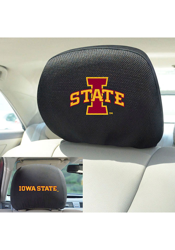 Sports Licensing Solutions Iowa State Cyclones 10x13 Auto Head Rest Cover - Black - Image 2