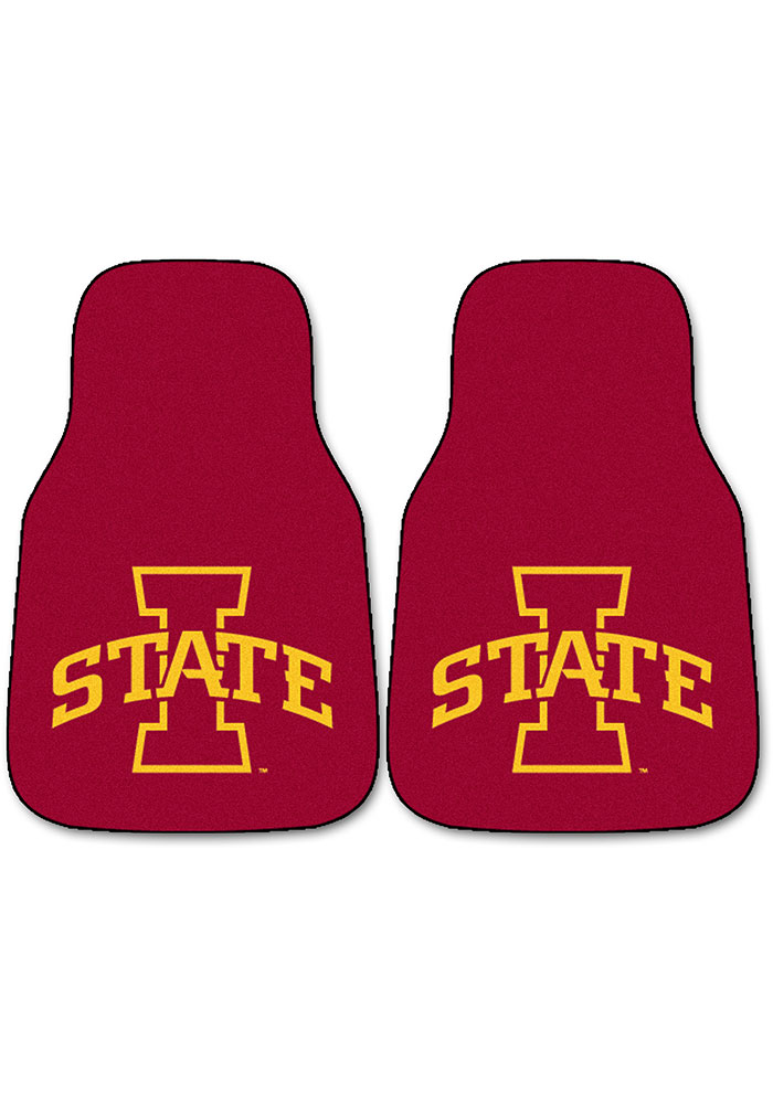 Sports Licensing Solutions Iowa State Cyclones 2-Piece Carpet Car Mat - Red - Image 1