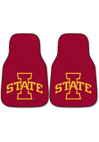 Sports Licensing Solutions Iowa State Cyclones 2-Piece Carpet Car Mat - Red