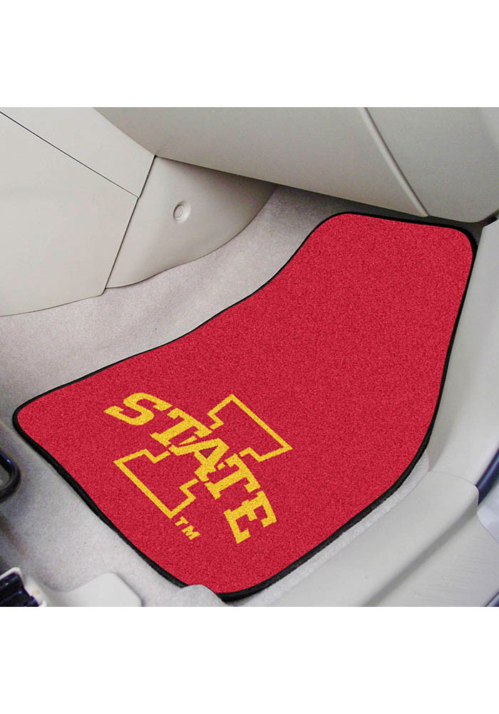 Sports Licensing Solutions Iowa State Cyclones 2-Piece Carpet Car Mat - Red - Image 2