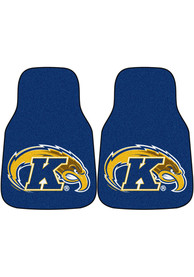 Sports Licensing Solutions Kent State Golden Flashes 2-Piece Carpet Car Mat - Blue