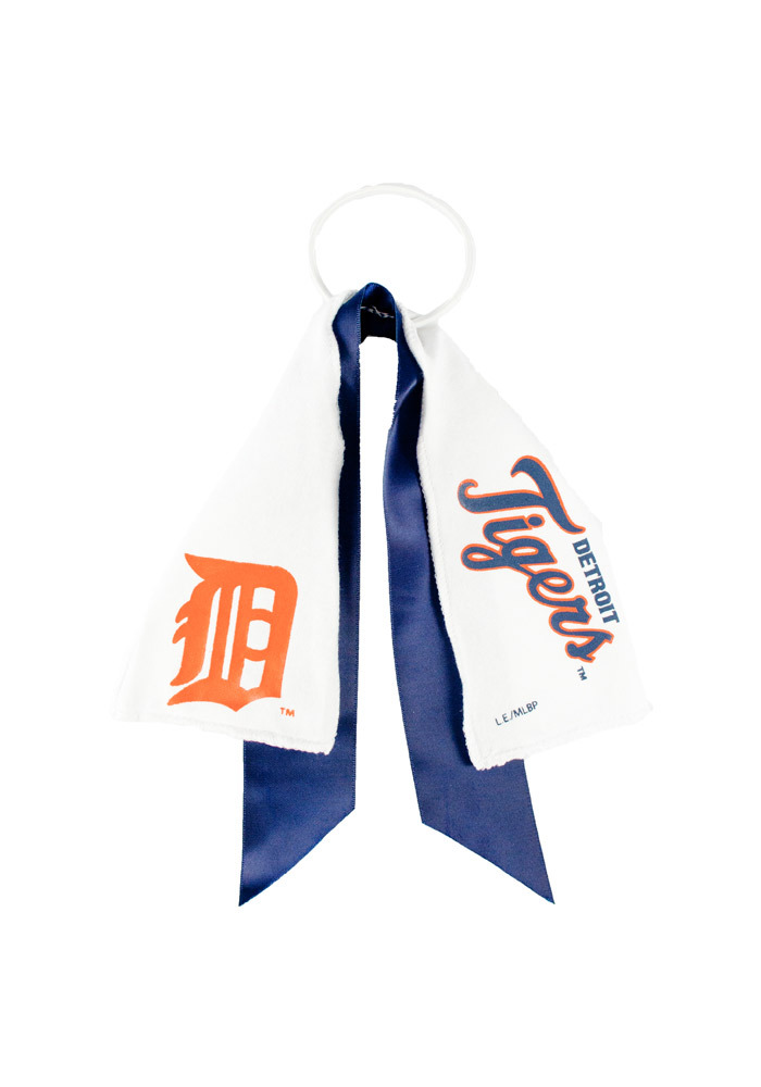 Detroit Tigers Ponytail Holder Youth Hair Scrunchie - Image 1