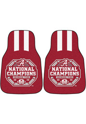 Sports Licensing Solutions Alabama Crimson Tide 2020 National Champions 2 Piece Carpet Car Mat - Red
