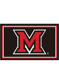 Miami RedHawks 4x6 Plush Interior Rug