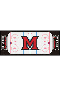 Miami RedHawks 30x72 Hockey Rink Runner Interior Rug