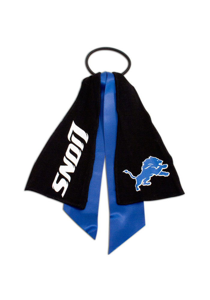 Detroit Lions Ponytail Holder Youth Hair Scrunchie - Image 1