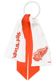 Detroit Red Wings Youth Ponytail Holder Hair Scrunchie - White