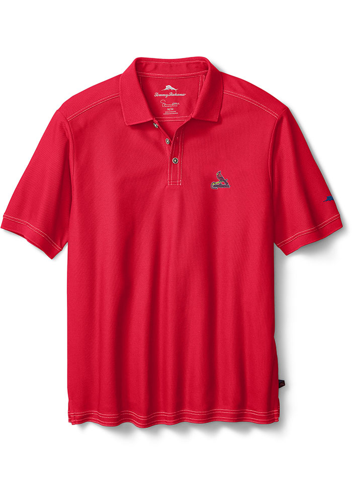 Tommy Bahama St Louis Cardinals Mens Red Emfielder Short Sleeve Polo - Image 1
