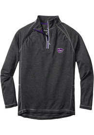 K-State Wildcats Tommy Bahama Firewall 1/4 Zip Pullover - Charcoal