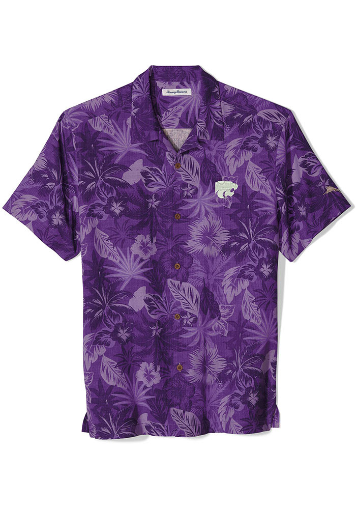 Tommy Bahama K-State Wildcats Mens Purple Sport Fuego Short Sleeve Dress Shirt - Image 1