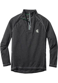 Michigan State Spartans Tommy Bahama Firewall 1/4 Zip Pullover - Charcoal