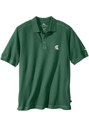 Tommy Bahama Michigan State Spartans Mens Green Emfielder Short Sleeve Polo