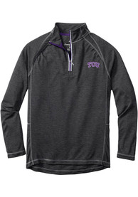 TCU Horned Frogs Tommy Bahama Firewall 1/4 Zip Pullover - Charcoal
