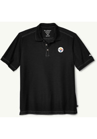 Pittsburgh Steelers Tommy Bahama Emfielder Polo Shirt - Black