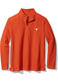 Texas Longhorns Tommy Bahama Emfielder 1/4 Zip Pullover - Burnt Orange