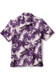 K-State Wildcats Tommy Bahama Sport Harbor Island Hisbiscus Dress Shirt - Purple