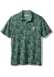 Tommy Bahama Michigan State Spartans Mens Green Sport Palmetto Palms Short Sleeve Polo