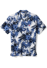 Chicago Cubs Tommy Bahama Harbor Island Hibiscus Camp Dress Shirt - Navy Blue
