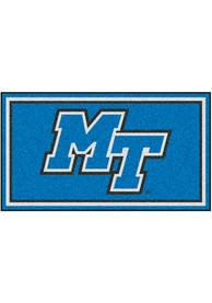 Middle Tennessee Blue Raiders 3x5 Plush Interior Rug