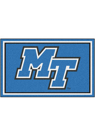 Middle Tennessee Blue Raiders 4x6 Plush Interior Rug