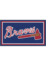Atlanta Braves 3x5 Plush Interior Rug