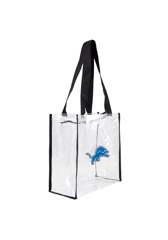 Detroit Lions White Stadium Approved 12 x 12 x 6 Clear Bag - Image 1