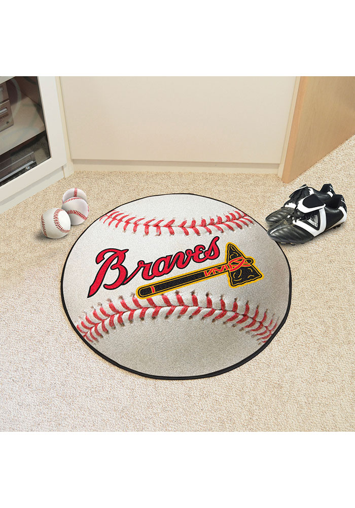 Atlanta Braves 27 Baseball Interior Rug - Image 2