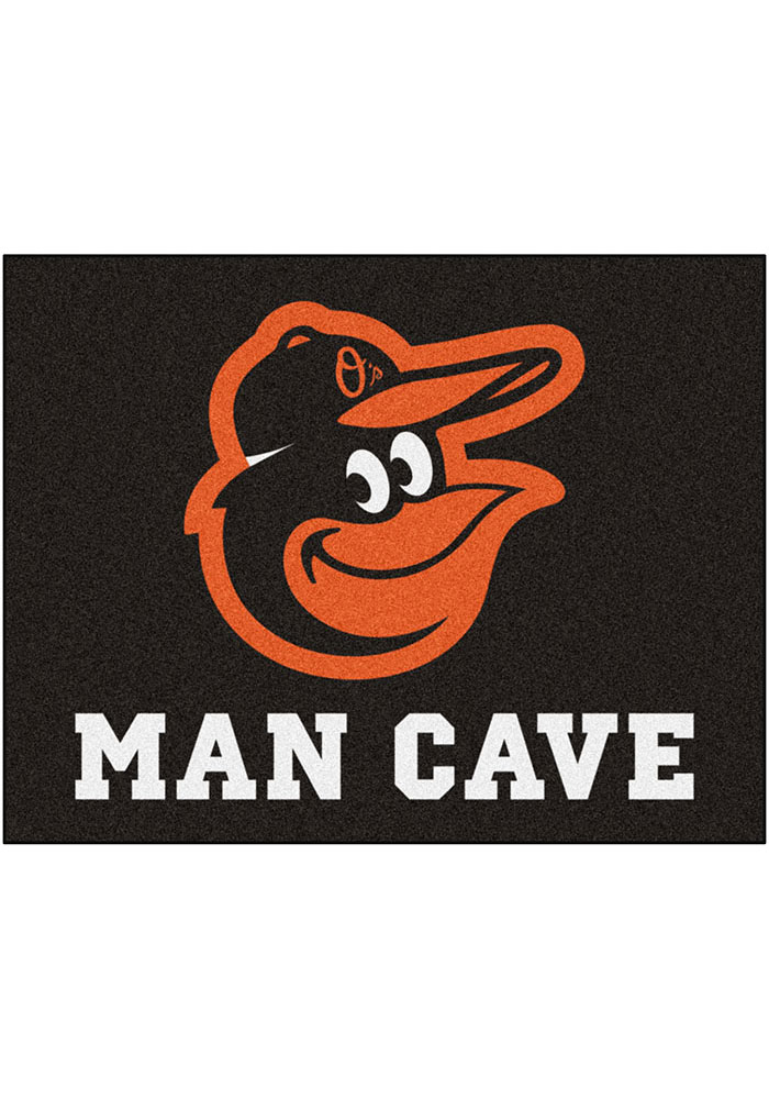 Baltimore Orioles 34x42 Man Cave All Star Interior Rug - Image 1