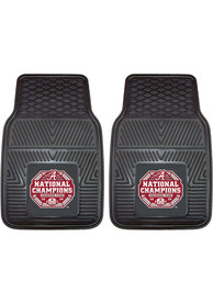 Sports Licensing Solutions Alabama Crimson Tide 2020 National Champions 2 Piece Vinyl Car Mat - Black