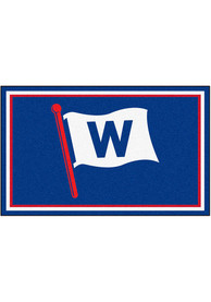 Chicago Cubs 4x6 Plush Interior Rug