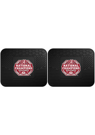 Sports Licensing Solutions Alabama Crimson Tide 2020 National Champions 2 Piece Utility Car Mat - Black