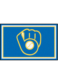 Milwaukee Brewers 4x6 Plush Interior Rug
