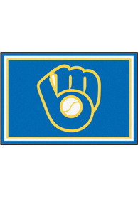 Milwaukee Brewers 5x8 Plush Interior Rug