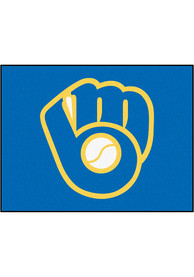 Milwaukee Brewers 34x42 Starter Interior Rug