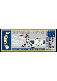 Milwaukee Brewers 30x72 Ticket Runner Interior Rug