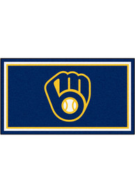 Milwaukee Brewers 3x5 Plush Interior Rug