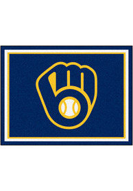 Milwaukee Brewers 8x10 Plush Interior Rug