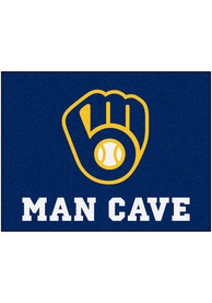Milwaukee Brewers 34x42 Man Cave All Star Interior Rug