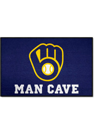Milwaukee Brewers 19x30 Man Cave Starter Interior Rug