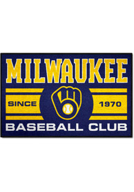 Milwaukee Brewers 19x30 Uniform Starter Interior Rug