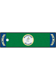 Milwaukee Brewers 18x72 Putting Green Runner Interior Rug