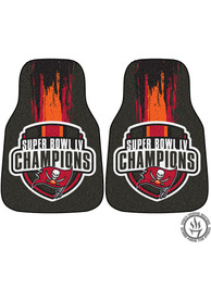 Sports Licensing Solutions Tampa Bay Buccaneers Super Bowl LV Champion 2 Piece Carpet Car Mat - Grey