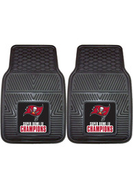 Sports Licensing Solutions Tampa Bay Buccaneers Super Bowl LV Champion 2 Piece Vinyl Car Mat - Black